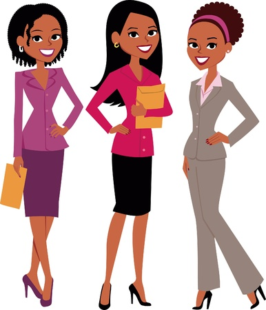 karikatuur: Groep vrouwen Illustratie