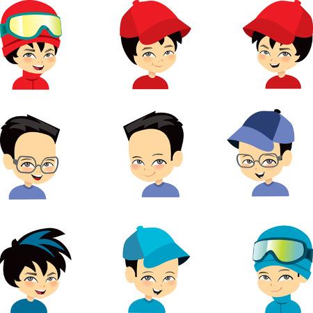 Set of  Boy Cartoons