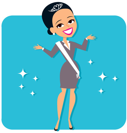 contestant: Businesswoman Winner Stock Photo