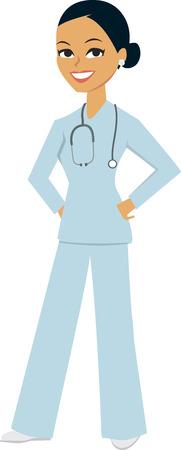 enfermera caricatura: Mujer Enfermera M�dico de dibujos animados