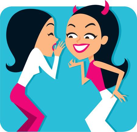 Woman Wispering  to Friend