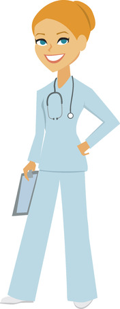 fullbody: Woman Nurse Portrait Stock Photo