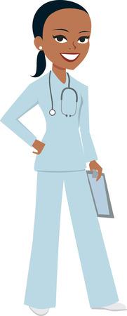 obrero caricatura: Mujer Enfermera M�dico de dibujos animados