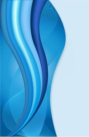 青いカバーの幅を抽象的な青い波