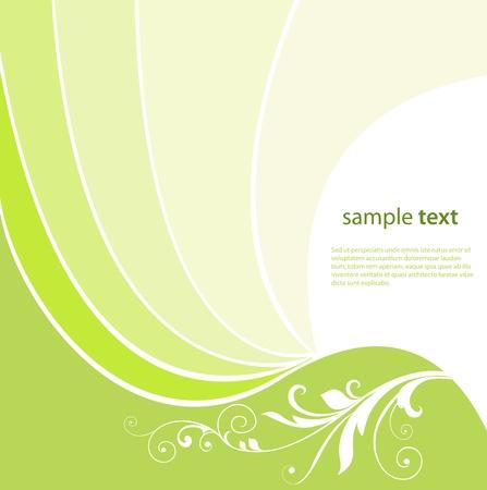 抽象的な背景緑波美しいイラスト。  イラスト・ベクター素材