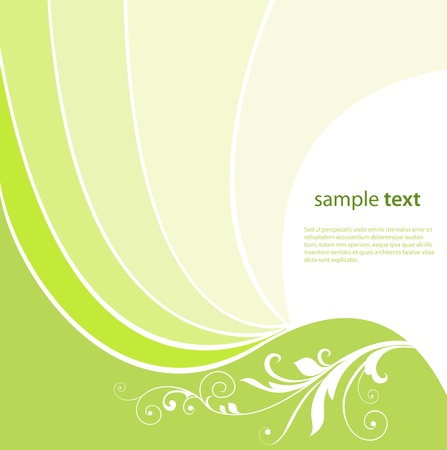 Abstract background with green wave Beautiful illustration.