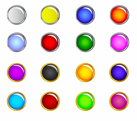 A collection of buttons useful for website