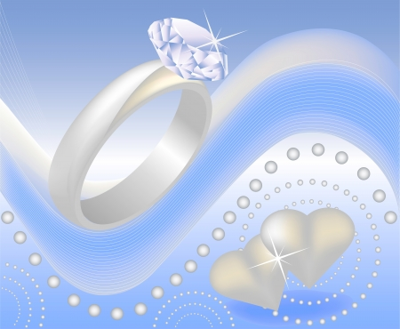 Diamond Ring wedding gift  Vector
