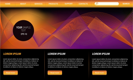 Web Design Website Elements Stock Vector - 15592167