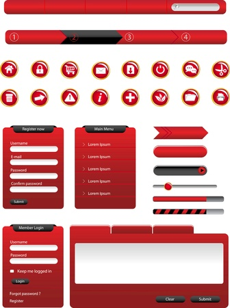 Set of modern Web Design Elements  Illustration