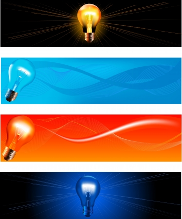 Collection of abstract technology banners  Stock Vector - 15726650