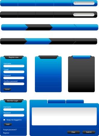 現代ベクトル Web デザイン要素のセット  イラスト・ベクター素材