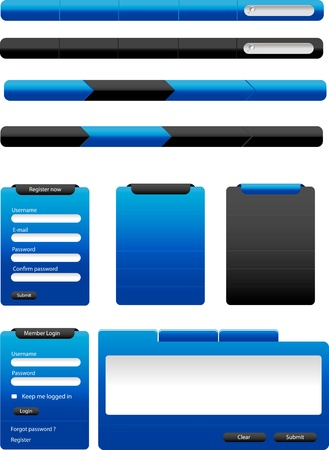 Set of modern Vector Web Design Elements