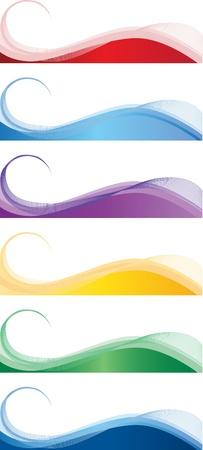 http: Eine Reihe von Web-Banner in verschiedenen Farben