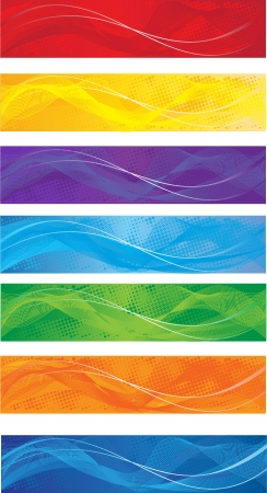A set of web banners of different colors Stock Vector - 17580294
