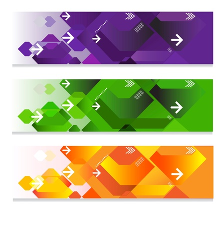 Three abstract web headers  Stock Vector - 17989829