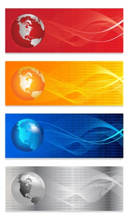 Headers width abstract  background for company style design  Vector