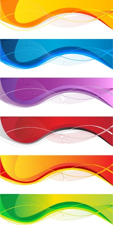 Vector website headers set, business success concept