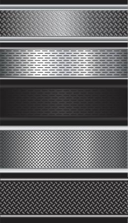金属のテクスチャ背景ベクトル図のパターン  イラスト・ベクター素材
