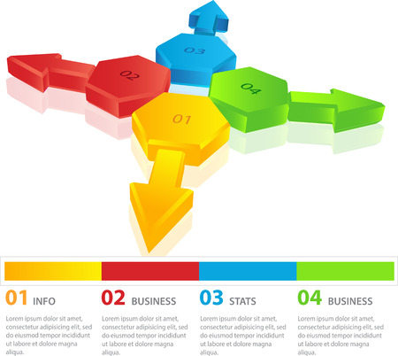 Simply minimal infographic template design Can be used for workflow layout, diagram, number options, step options, banner, web design Illustration