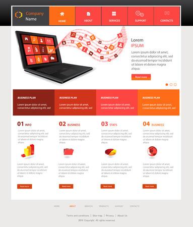 Web デザイン web サイトのベクターの要素  イラスト・ベクター素材