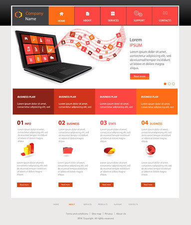 Web Design Website Vector Elements 版權商用圖片 - 23862048