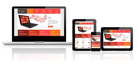 conception: Responsive modèle de site Web sur plusieurs appareils