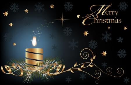 velas de navidad: Luz de fondo de Navidad con velas encendidas Vectores