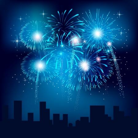 fuoco e fiamme: Sfondo con fuochi d'artificio