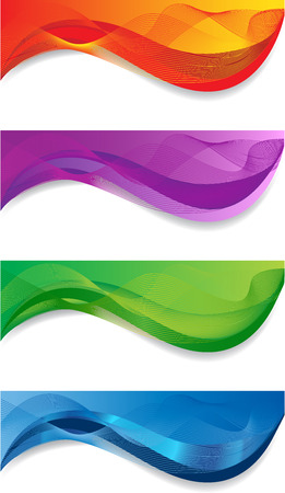 A set of web banners of different colors 向量圖像