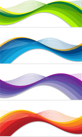 webbanner: A set of web banners of different colors Illustration