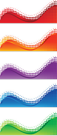 A set of web banners of different colors Vector
