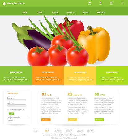Web デザインのウェブサイトの要素