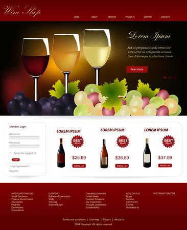 Wine shop template design