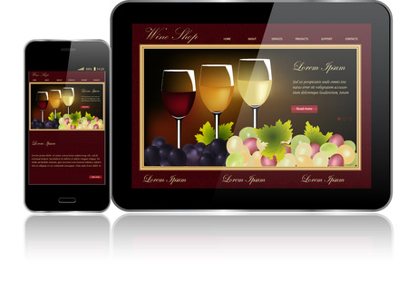 Tablet und Smartphone Standard-Bild - 26582124