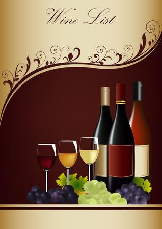 Restaurant or wine bar menu design template