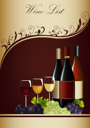 Restaurant or wine bar menu design template