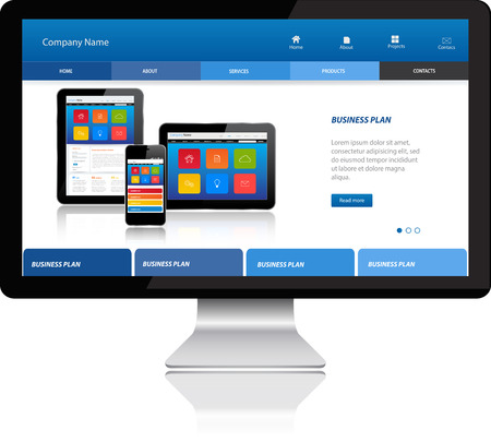 Responsive website template on Modern Computer