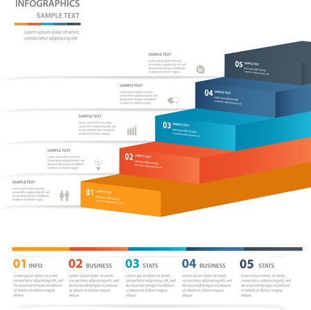 Modern business steps to success charts and graphs Useful for infographics and presentations