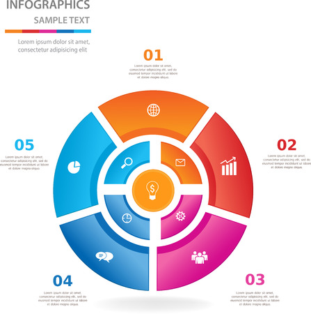Circle with icons  can use for business concept  education diagram  Vector