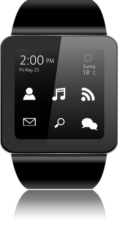 watch: Smart watch with apps icons