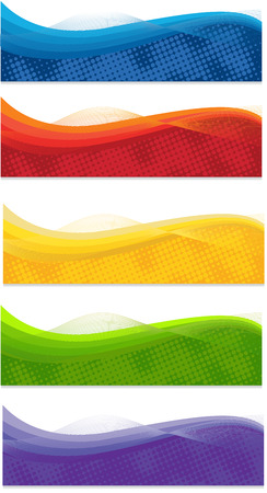 masthead: A set of web banners of different colors Illustration
