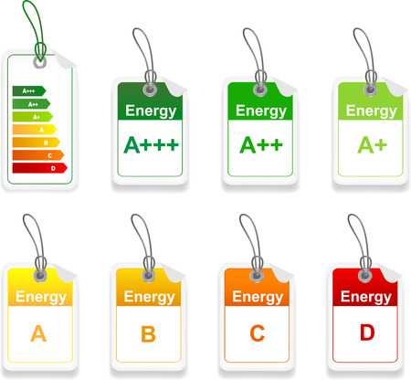 low cost: Tag with class energy performance  Set of energy class tag