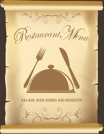 cooking book: Template for restaurant menu, book covers or posters.