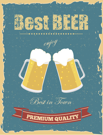 sign store: Vintage beer poster with grunge effects.
