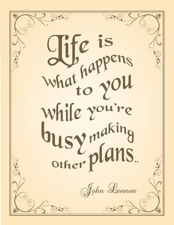 john: Retro Typographic Poster with motivation quote by John Lennon Illustration