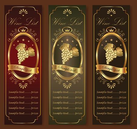 alcohol logo: Elegant template for a restaurant menu or wine list