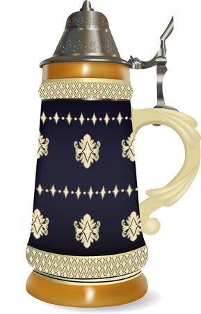 beer stein: German beer stein