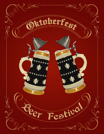 Oktoberfest celebration design with german beer stein