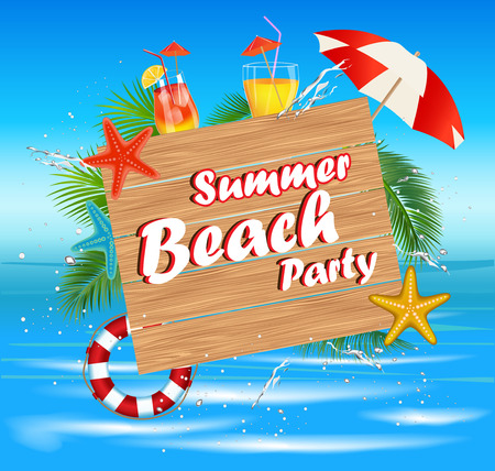 Summer Beach Party.Summer holidays Illustration